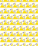 Abstract seamless geometric pattern. Figures with many angles. Directional movement Royalty Free Stock Photo