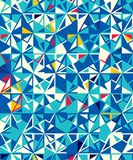 Abstract seamless geometric pattern. Figures with many angles. Directional movement Royalty Free Stock Images
