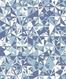 Abstract seamless geometric pattern. Figures with many angles. Directional movement Stock Image