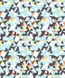 Abstract seamless geometric pattern. Figures with many angles. Directional movement Stock Photos