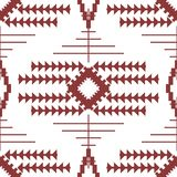 Abstract seamless geometric embroidery pattern. Abstract seamless geometric pattern of linked triangles, lines and polygons. Fashion print in wine and white Stock Photos