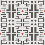 Abstract seamless geometric pattern in a modern style Royalty Free Stock Photos