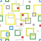 Abstract seamless geometric pattern. Multicolored frames and squares Stock Photos