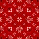 Abstract Seamless geometric pattern. On a red background. Vector illustration Royalty Free Illustration