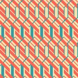 Abstract seamless geometric pattern in retro colors. Abstract seamless geometric pattern in retro color palette Stock Illustration