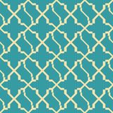 Abstract seamless geometric pattern in retro colors. Abstract seamless geometric pattern in yellow and blue retro colors Stock Images