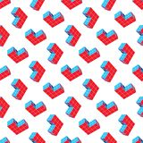 Abstract seamless geometric pattern. A three-dimensional shape in space. Designer details. stock illustration