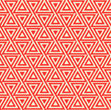 Abstract seamless geometric pattern with triangles. Seamless pattern from triangles in red color. Suitable for web, print, wallpaper, gift wrapping, home decor Vector Illustration