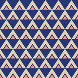 Abstract seamless geometric pattern of triangles. Stylish texture. Repeating geometric tiles. Ethnic pattern. Vector color background royalty free illustration
