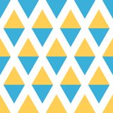 Abstract seamless geometric pattern of triangles in sunny colors Royalty Free Stock Photography