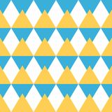 Abstract seamless geometric pattern of triangles in sunny colors Stock Photos