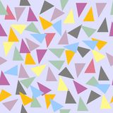 Abstract seamless geometric pattern with varicolored triangles Stock Image
