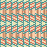 Abstract seamless geometric pattern in vintage colors. Retro style design Royalty Free Stock Image