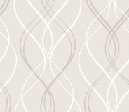 Abstract seamless geometric pattern with wavy line Royalty Free Stock Images