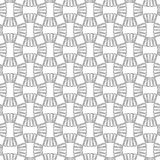 Abstract seamless geometric pattern with weave ornament. Simple black and white linear wavy striped texture. Vector Royalty Free Stock Photography