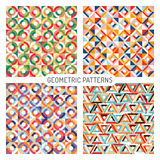 Abstract seamless geometric patterns. Vector set graphics, eps 10 Vector Illustration