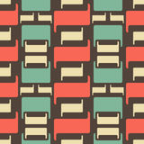 Abstract seamless geometric retro pattern. Abstract seamless geometric pattern in faded vintage colors Stock Photography