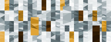 Abstract Seamless geometric shape vector pattern Royalty Free Stock Photo