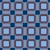 Abstract seamless geometric squares blue pattern Royalty Free Stock Image