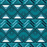 Abstract seamless geometric pattern in blue and white colors. Abstract seamless geometric vector pattern in blue and white colors Stock Photos