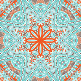 Abstract seamless geometric winter pattern Royalty Free Stock Photography