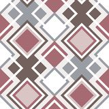 Abstract Seamless Geometrical Pattern. With Rhombus. Vector illustration royalty free illustration