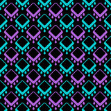 Abstract seamless geometrical pattern on black Royalty Free Stock Photo