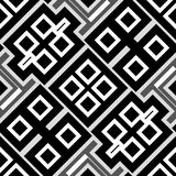 Abstract seamless geometrical pattern. Black and white and grey abstract seamless geometrical pattern Stock Image