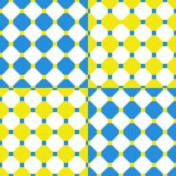Abstract seamless geometrical pattern. Of blue and yellow squares Royalty Free Stock Image