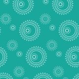 Abstract Seamless geometrical pattern with floral background. Vector Illustration Royalty Free Stock Photo