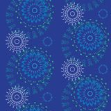 Abstract Seamless geometrical pattern with floral background. Vector Illustration Stock Images
