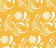Abstract Seamless geometrical pattern with floral background. Vector Illustration Stock Photo