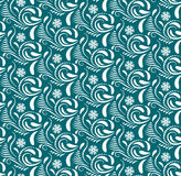 Abstract Seamless geometrical pattern with floral background. Vector Illustration Royalty Free Stock Images