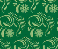 Abstract Seamless geometrical pattern with floral background. Vector Illustration Stock Photography