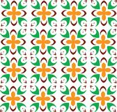 Abstract Seamless geometrical pattern with floral background. Vector Illustration Royalty Free Stock Image