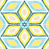 Abstract seamless geometrical pattern hand-drawn. Zentangl. Triangles. Doodle. Ceramic tile Stock Photos