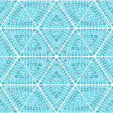 Abstract seamless geometrical pattern hand-drawn royalty free illustration