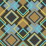 Abstract Seamless Geometrical Pattern. With Rhombus. Vector illustration Stock Image
