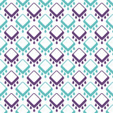 Abstract seamless geometrical pattern on white Stock Photos