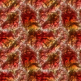Abstract seamless glittering christmas background of red and gold crystals Royalty Free Stock Photos