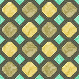 Abstract seamless gold, beige and green pattern with veined marble structure Royalty Free Stock Images