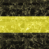 Abstract seamless gold and black marbled pattern with veins. Pavement floor pattern with gold and black rectangles Royalty Free Stock Photography