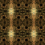 Abstract seamless gold and brown snake pattern Royalty Free Stock Photography