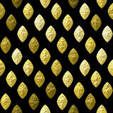 Abstract seamless gold, brown and white grained relief pattern on a black background. Bumpy pattern of beveled brown, yellow and gold oval shapes stock illustration