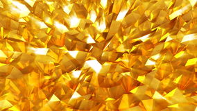 Abstract seamless gold triangular crystalline background animation. Seamless loop stock video