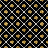 Abstract seamless golden silver background lines, points, cage. Grunge seamless pattern of gold silver diagonal stripes and circle, seamless golden silver Royalty Free Stock Image