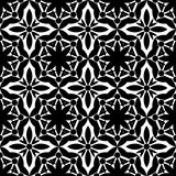 Abstract seamless Gothic black & white pattern. Seamless geometric op ornament  background Royalty Free Stock Photo