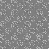 Abstract seamless gray background with white spirals. Abstract seamless gray background with different white spirals of dots Stock Photo