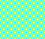 Abstract seamless green background with green flowers and yellow squares stroke Stock Images