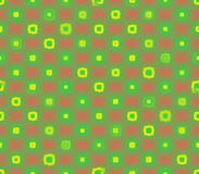 Abstract seamless green background with green and yellow and pink squares with stroke Royalty Free Stock Photo
